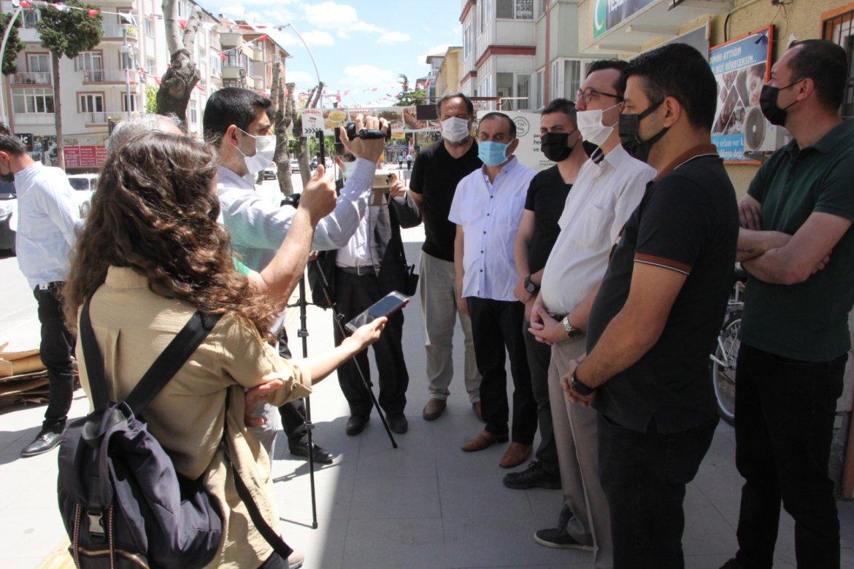 BURDUR'LU GAZETECİLERDEN İSRAİL PROTESTOSU